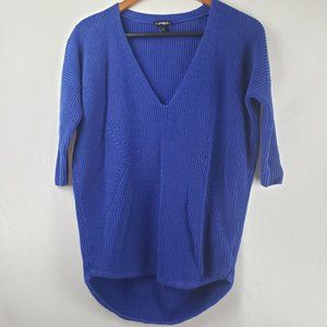 Express Blue Oversized Sweater w/ Quarter Sleeves